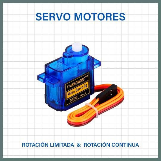 Servomotores de 180 y 360 grados de rotación