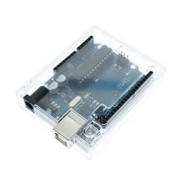 Protector de acrílico para Arduino Uno R3, transparente