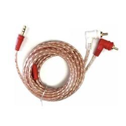 Cable de audio Audiopipe de 3.5 mm macho a 2 RCA macho en ángulo de 3.6 m