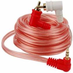 Cable de audio Audiopipe de 3.5 mm en ángulo a 2 RCA macho en ángulo de 4.5 m
