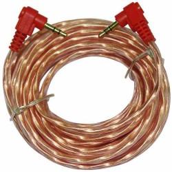 Cable de audio Audiopipe de 3.5 mm a 3.5 mm en ángulo estéreo de 1.8 m