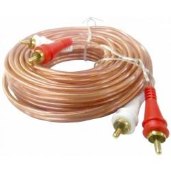 Cable Audiopipe de 2 RCA macho a 2 RCA macho de 3.0 m con conectores dorados