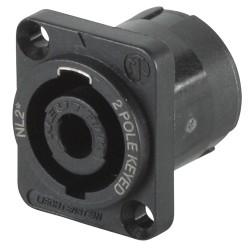 Conector Neutrik Speakon hembra de 2 vías, cuadrado para chasis
