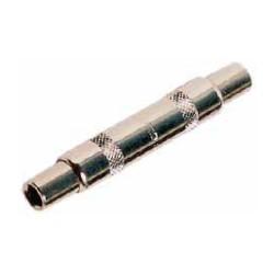 Unión para conectores de audio de 6.3mm mono, hembra a hembra metálico