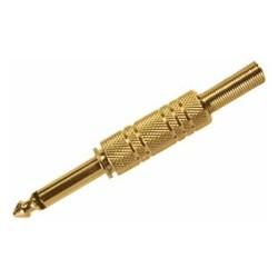 Conector de audio N.A. de 6.3 mm mono, dorado