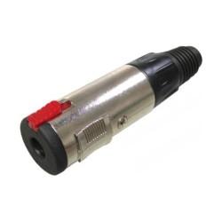 Conector de audio N.A. de 6.3 mm estéreo hembra, con cola
