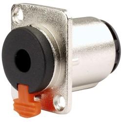 Conector de audio N.A. de 6.3 mm estéreo hembra, para empotrar