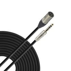 Cable de audio Zebra de 6.3 mm estéreo a XLR macho calibre 24 de 0.9 m