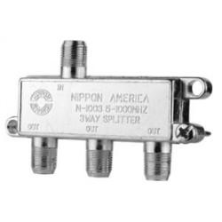 Splitter N.A. de 3 vías 5-1000 MHz