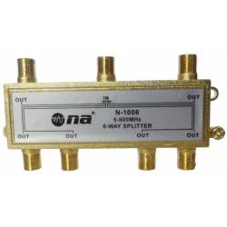Splitter N.A. de 6 vías 5-1000 MHz