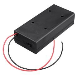 Sujetador de 2 baterías con switch 18650, 7.4V