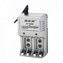 Cargador Jiabao para batería de 9V, AA y AAA