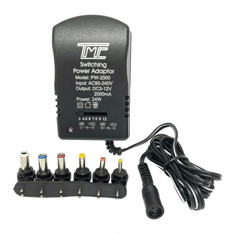Adaptador AC-DC TMC variable de 3V a 12V 2A