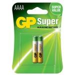 Batería GP Super Alcalina AAAA 1.5V - 2 piezas