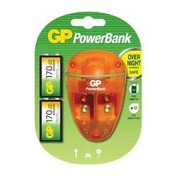 Cargador GP para batería de 9V con dos baterías de 170 mAh