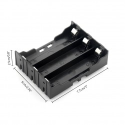 Sujetador de 3 baterías 18650 para PCB