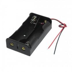 Sujetador de 2 baterías 18650 en paralelo, 3.7V