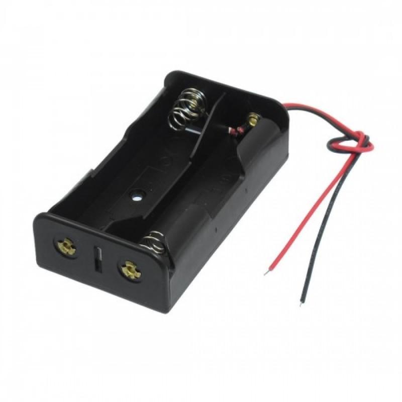 Sujetador de 2 baterías 18650, 7.4V