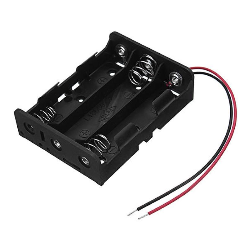 Sujetador de 3 baterías 18650 en paralelo, 3.7V