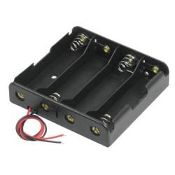 Sujetador de 4 baterías 18650, 14.8 V