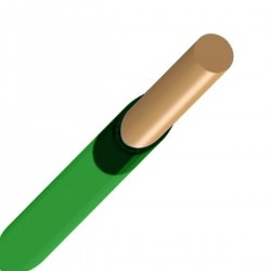 Alambre para protoboard 22 AWG, color verde