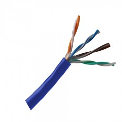 Cable UTP N.A. CAT5E, azul - metro