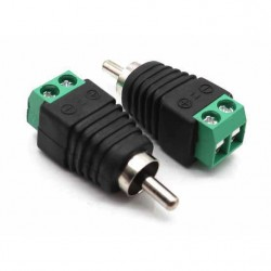 Adaptador de RCA macho 2.1mm a bornera