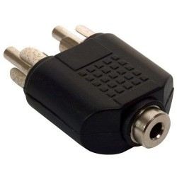 Adaptador N.A. de 3.5mm hembra estéreo a 2 RCA macho