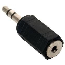 Adaptador N.A. de 2.5 mm hembra a 3.5 mm macho, estéreo