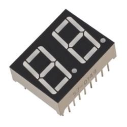 Display de 7 segmentos de 2 dígitos, cátodo común