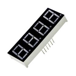 Display de 7 segmentos de 4 dígitos, ánodo común