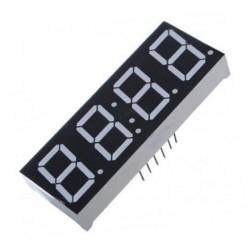 "Display de 7 segmentos de 0.28"" de 4 dígitos, ánodo común - Reloj"