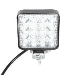 Neblinera LED cuadrada de 16 leds y 10 a 30 V