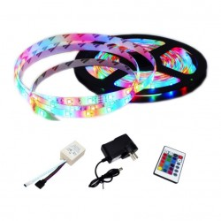 Tira LED flexible de tres colores 2835 de 5m con Adaptador AC-DC