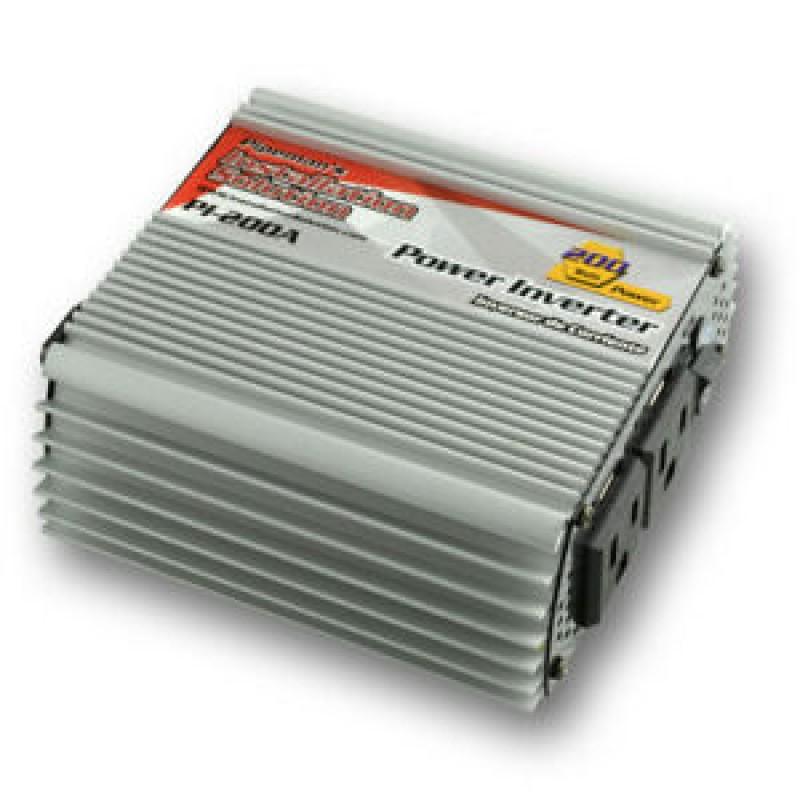 Inversor de corriente N.A. 200W con 2 USB