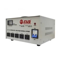 Regulador de voltaje N.A. 5000W con conexiones tipo tomacorriente