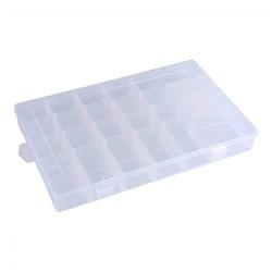Organizador plástico de 24 compartimientos