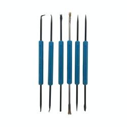 Set de 6 ganchos dobles para electrónica