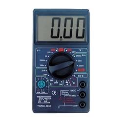Multímetro digital TMC-80 con medidor de temperatura