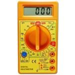 Multímetro básico con buzzer, amarillo