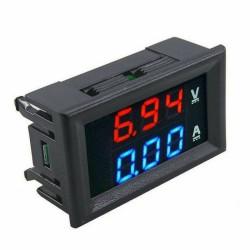 Voltímetro y amperímetro digital de 100V y 10A
