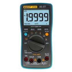 Multímetro ZOYI ZT-303 auto-rango y true RMS de alta precisión