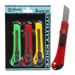 Set de 3 cuchillas de 18 mm