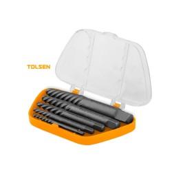 Extractor de tornillos Tolsen, 5 piezas