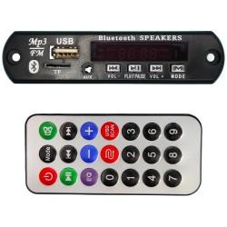 Módulo MP3 con entrada para USB, Bluetooth y tarjeta micro SD