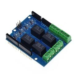 Módulo relé 5V shield de Arduino, 4 canales