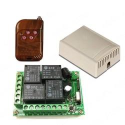 Módulo RF de control remoto y relé 12V de 4 canales