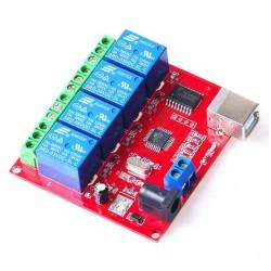 Módulo relé 5V USB, 4 canales