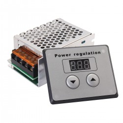 Controlador de velocidad SCR 110V - 220V 4,000W para motor AC con controlador digital