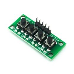 Módulo de 4 botones KC11B04